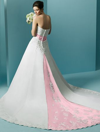 Pink wedding gowns - Be a princess in your wedding! Budget Brides - pink wedding photo