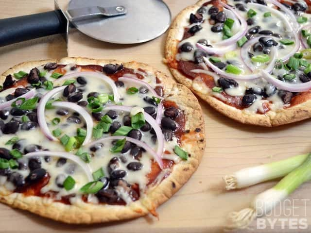 BBQ Black Bean Pizza