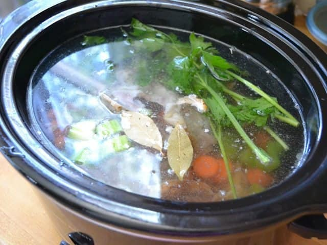 How To: Slow Cooker Chicken Broth - Budget Bytes