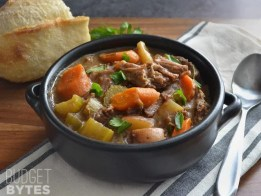 Slow Cooker Rosemary Garlic Beef Stew