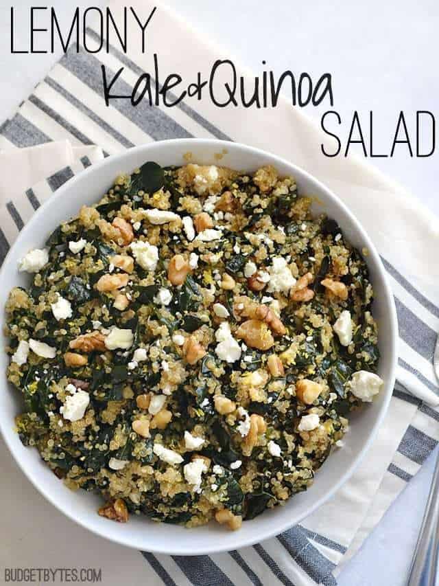 Lemony Kale and Quinoa Salad - BudgetBytes.com