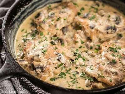 Creamy Garlic Mushroom Chicken - Budget Bytes