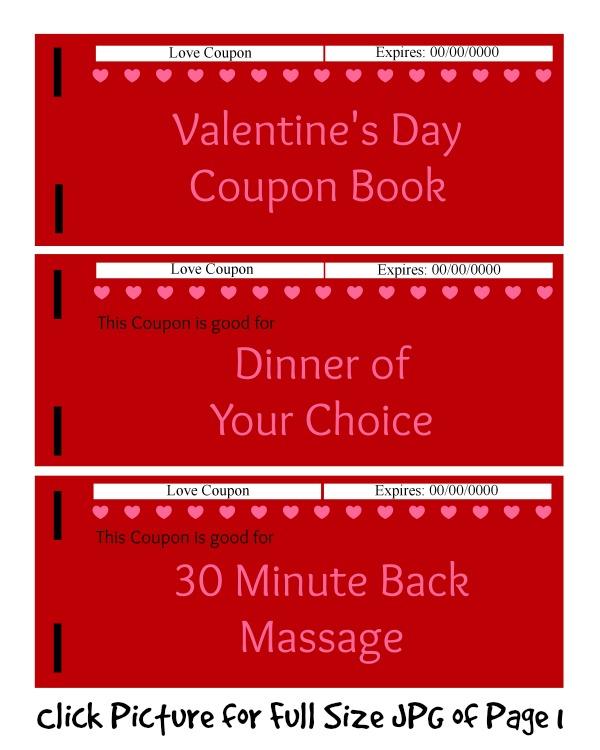 Best DIY Valentine\u0027s Day Gifts Valentine\u0027s Day Coupon Book Budget