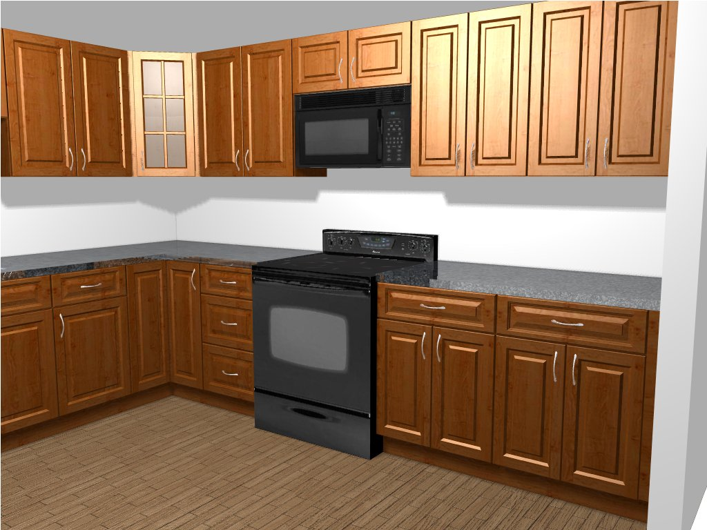budgetkitchenandbath kitchen and bathroom remodeling Design Rendering Finished Kitchen