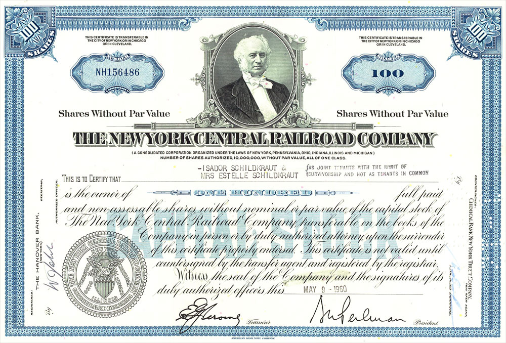 Ever Seen Old Stock Certificates? Budgets Are Sexy - Company Share Certificates