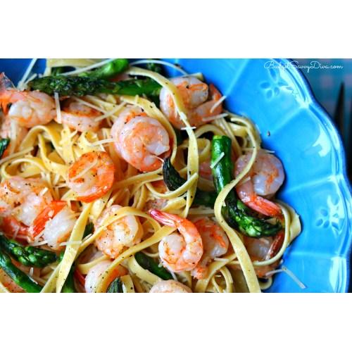 Medium Crop Of Shrimp Asparagus Pasta