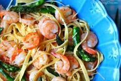 Small Of Shrimp Asparagus Pasta