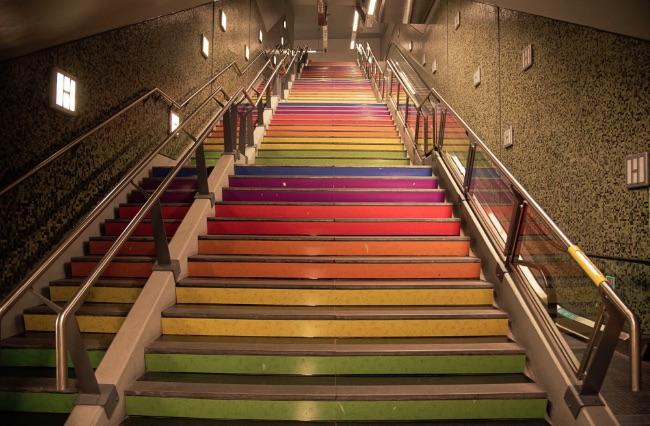 metro buenos aires gay escadaria