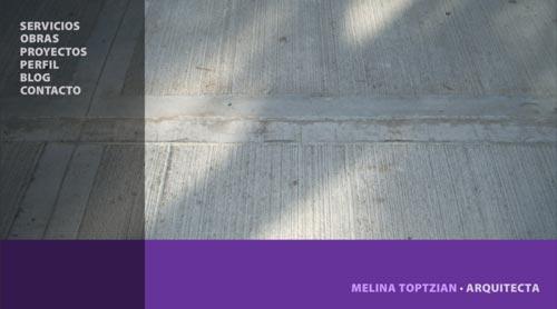 Melina Toptzian, Arquitecta