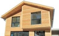 Fertighaus mit Holzfassade