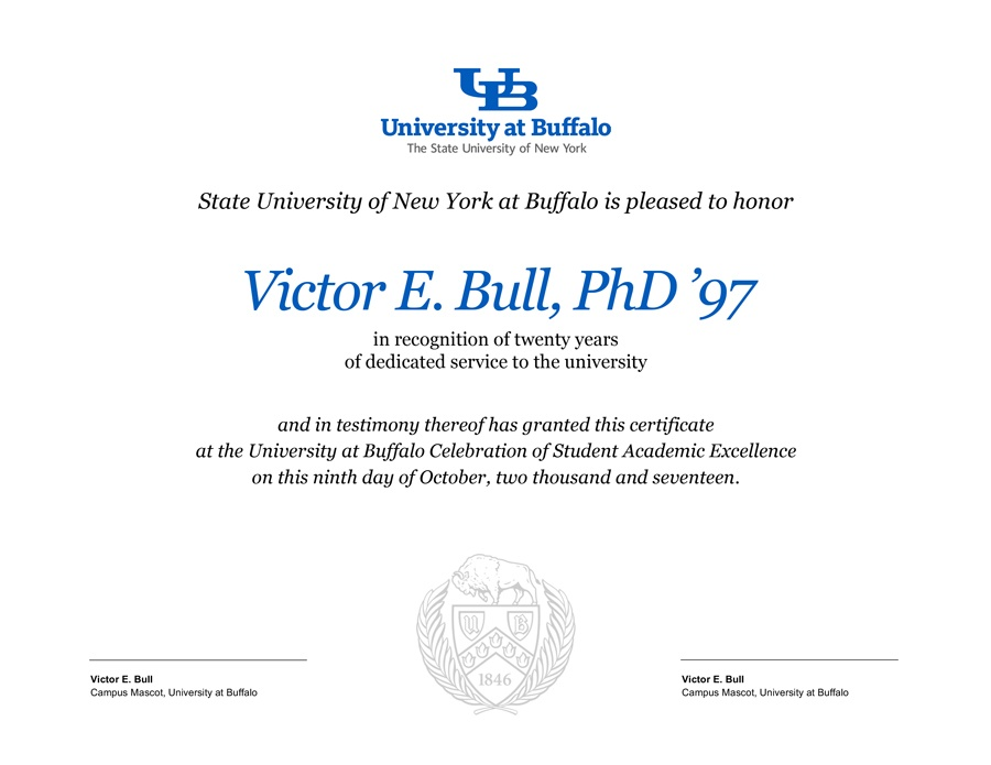 Award Certificate Templates - Identity and Brand - University at Buffalo - Award Paper Template