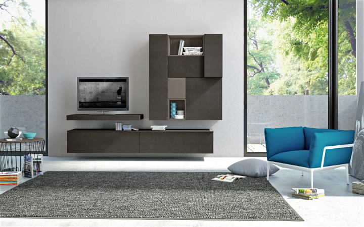 10 Stunning Living Room Wall Cabinets For Contemporary Homes - wall units for living rooms