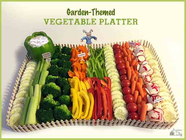 Garden Themed Vegetable Platter Tutorial