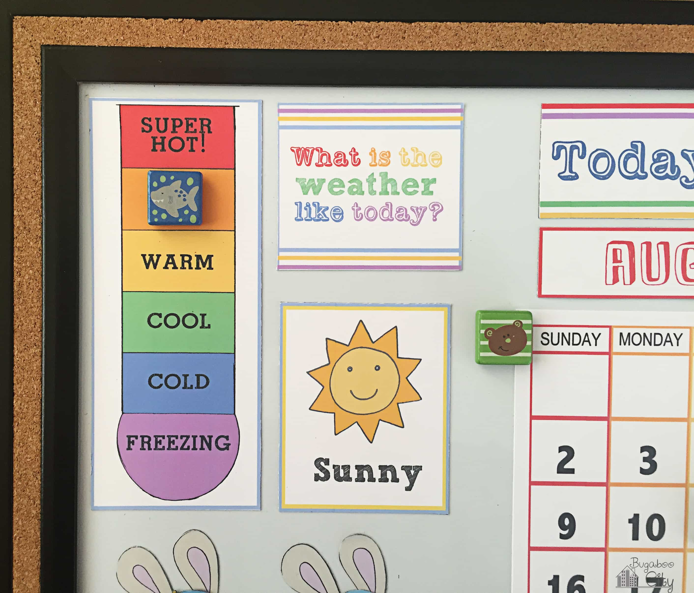 Diy Calendar For Kids : Diy toddler calender magnet board lots of free printables