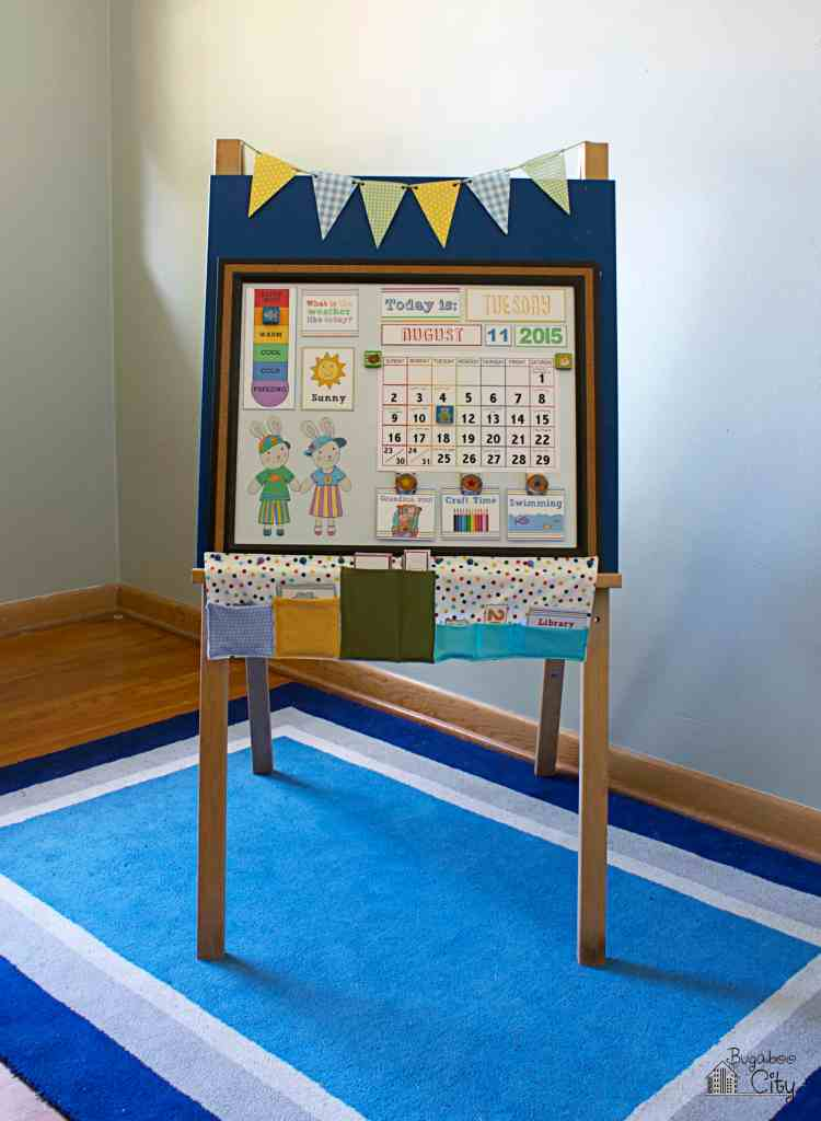 DIY Toddler Calendar Magnetic Board 1