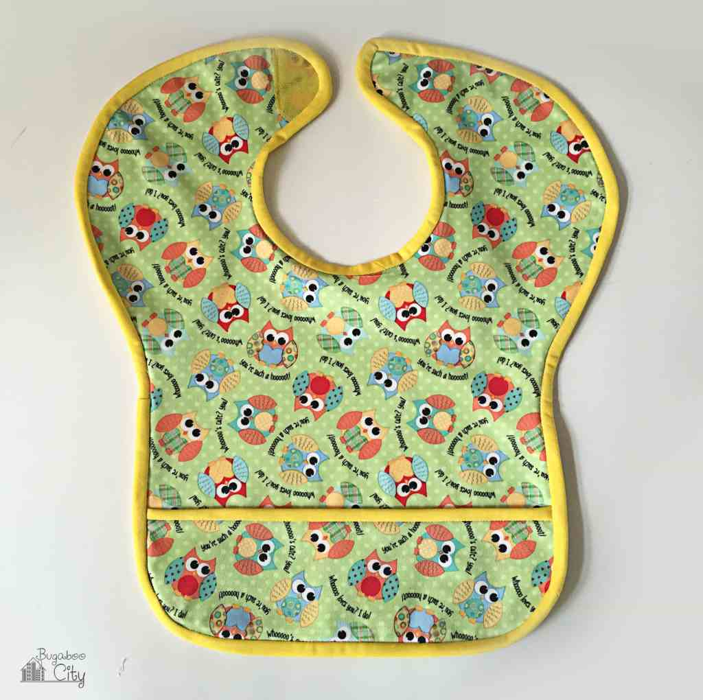 DIY Waterproof Owl Bib