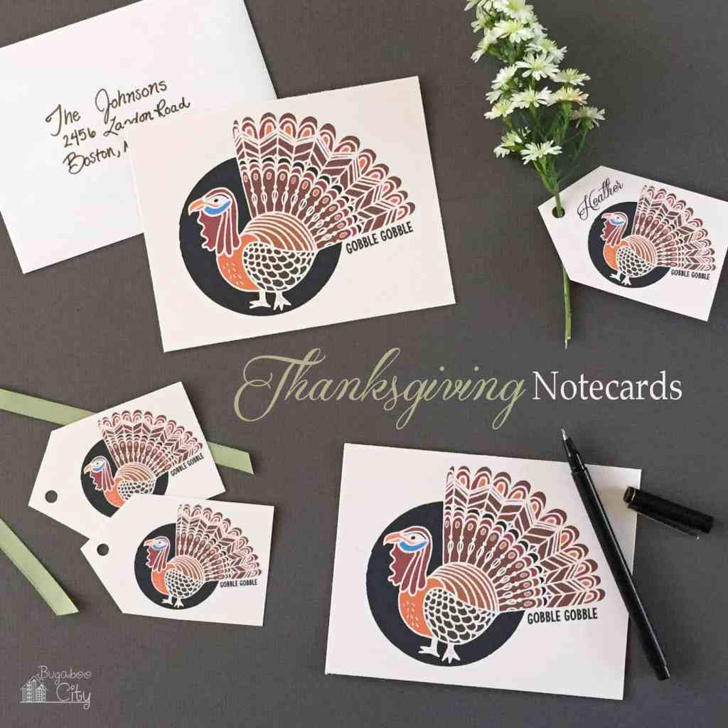 Printable Thanksgiving Turkey Notecards
