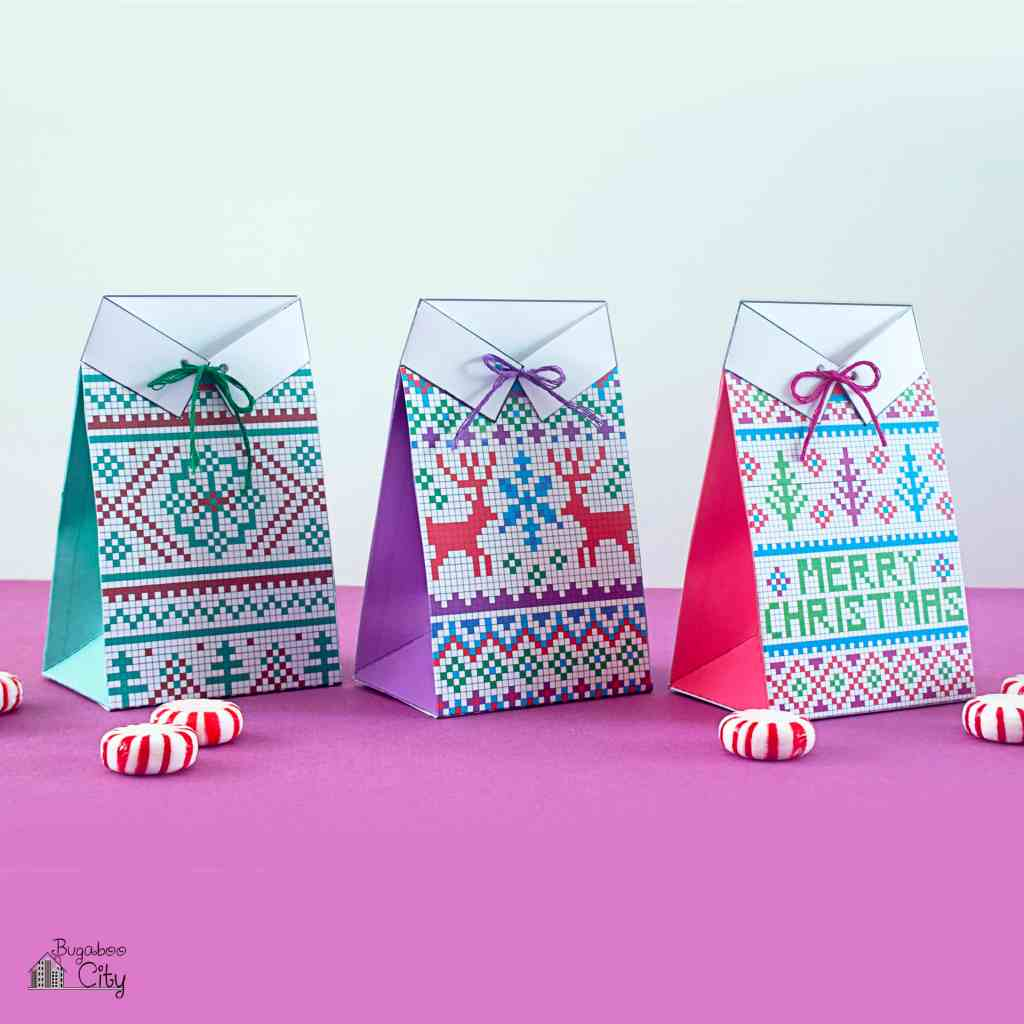 Sweater Gift Card Treat Bags
