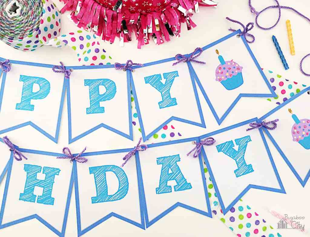 Birthday banner Free Printable