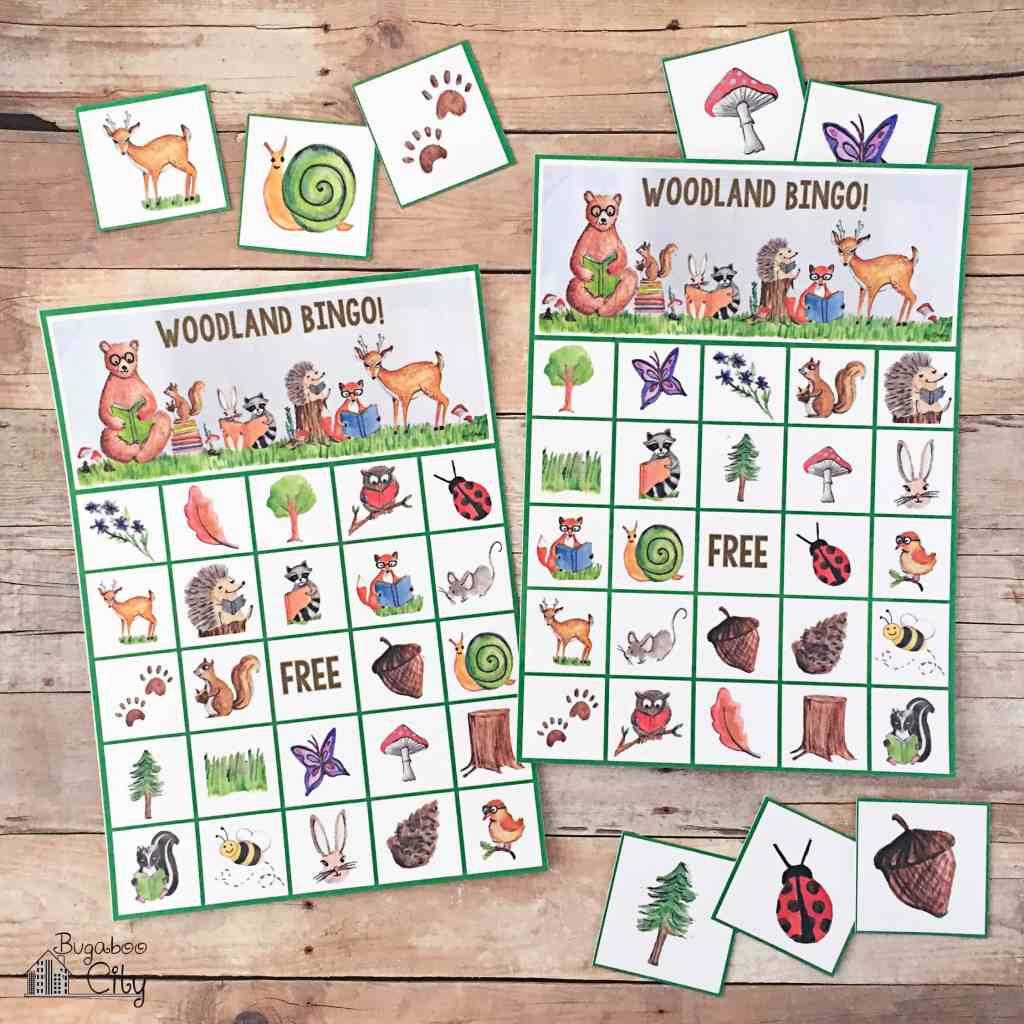 Woodland Bingo Forest Animals Bingo Free Printable