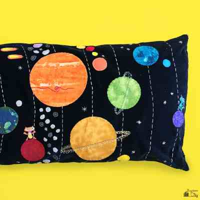 Solar System Space Pillow
