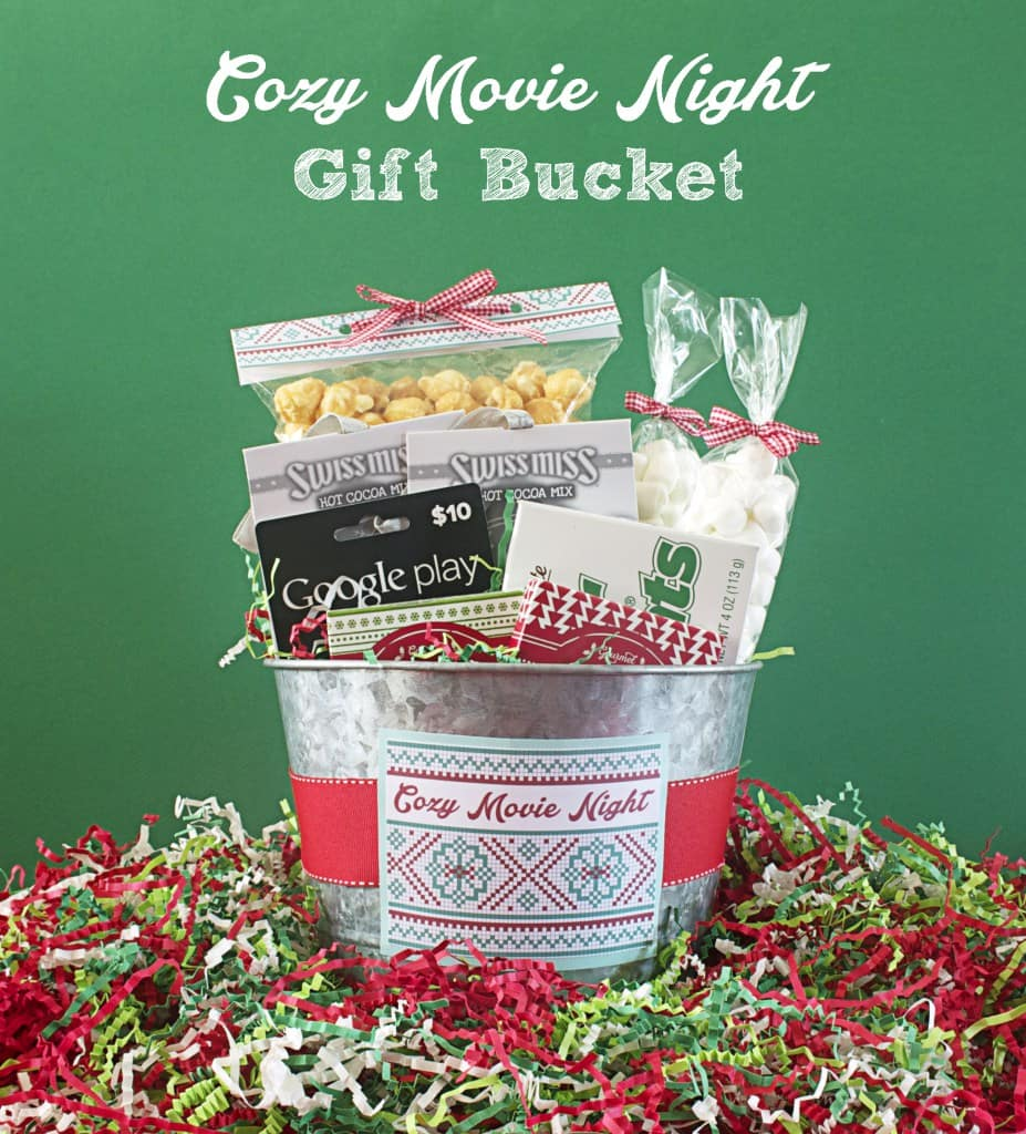 Cozy-Movie-Night-Gift-Bucket-Gift-Basket