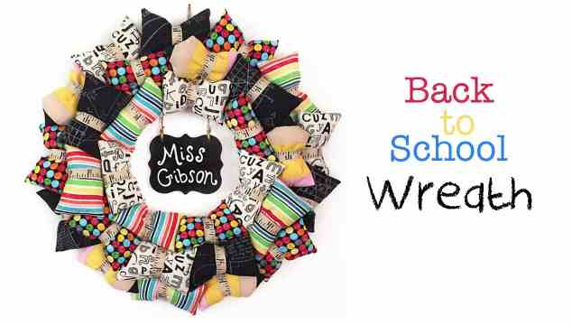 Back-to-School Pillow Wreath