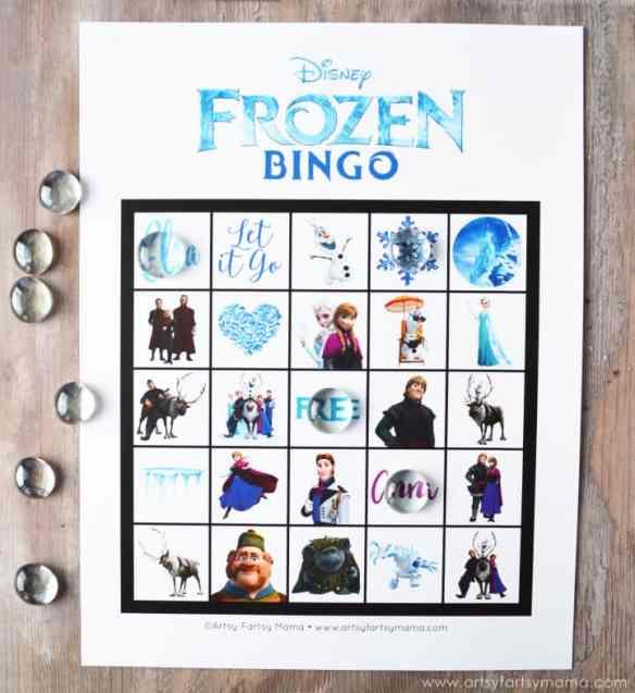 frozen-bingo-cards-at-artsy-fartsy-mama