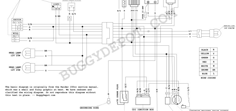 110 Atv Wiring Diagram Magneto Dazon Raider Classic Wiring Diagram Buggy Depot