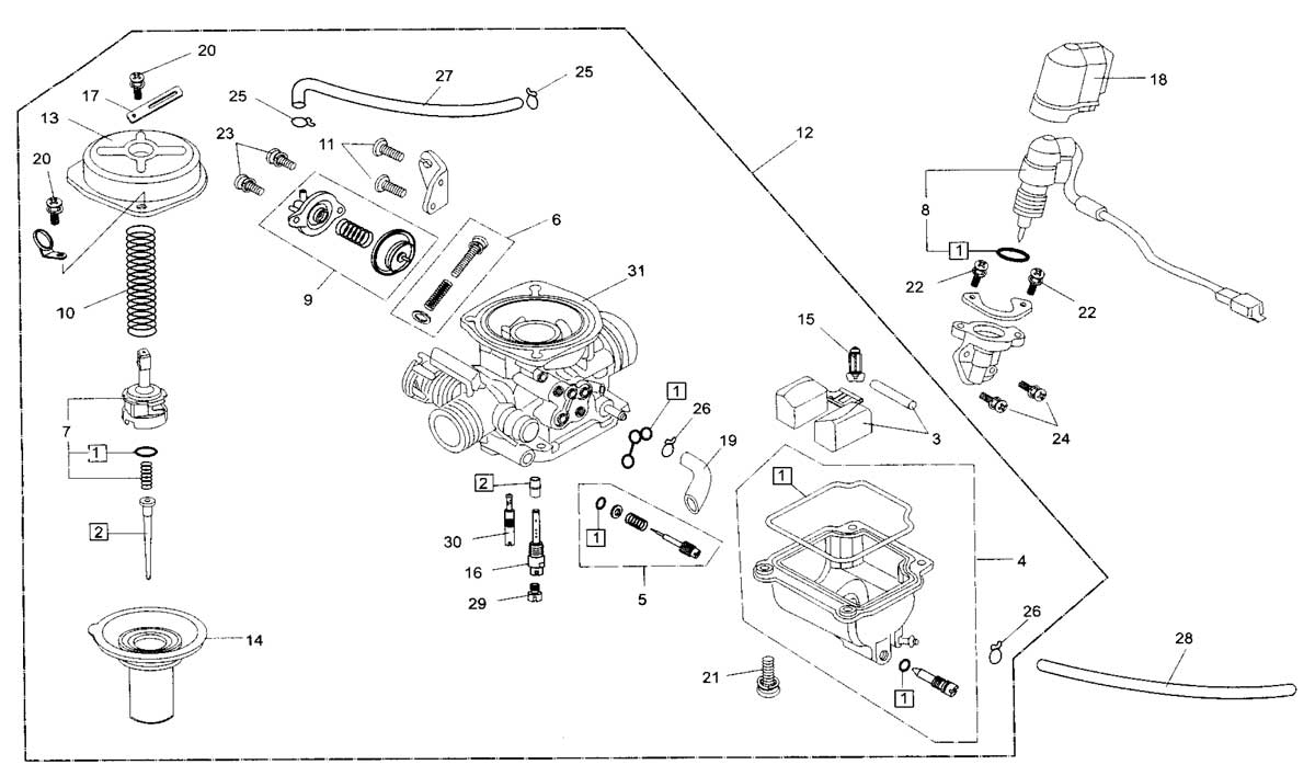 gy6 150cc carburetor diagram