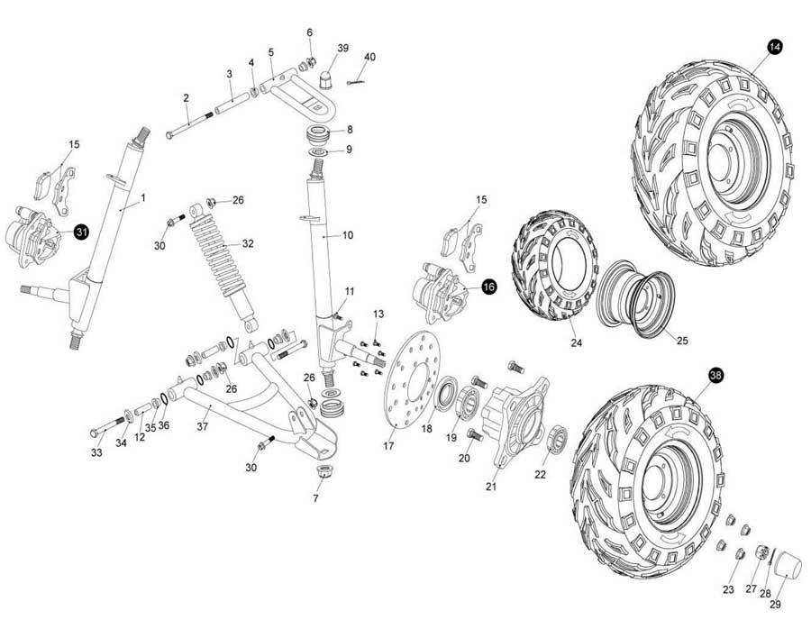 kazuma 50cc wiring diagram 6 wire key
