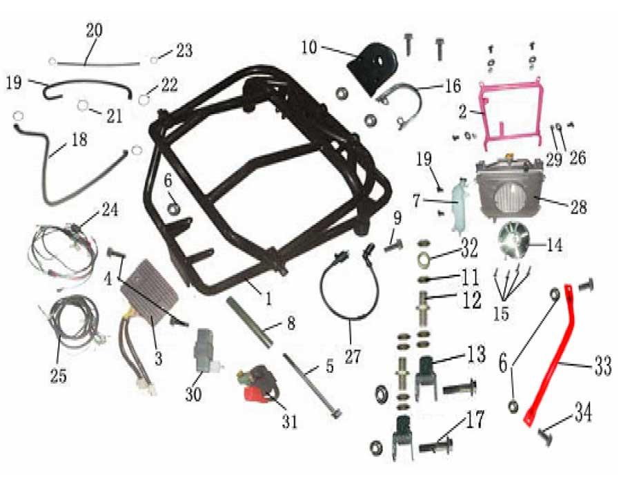 baja 90cc dirt bike wiring diagram