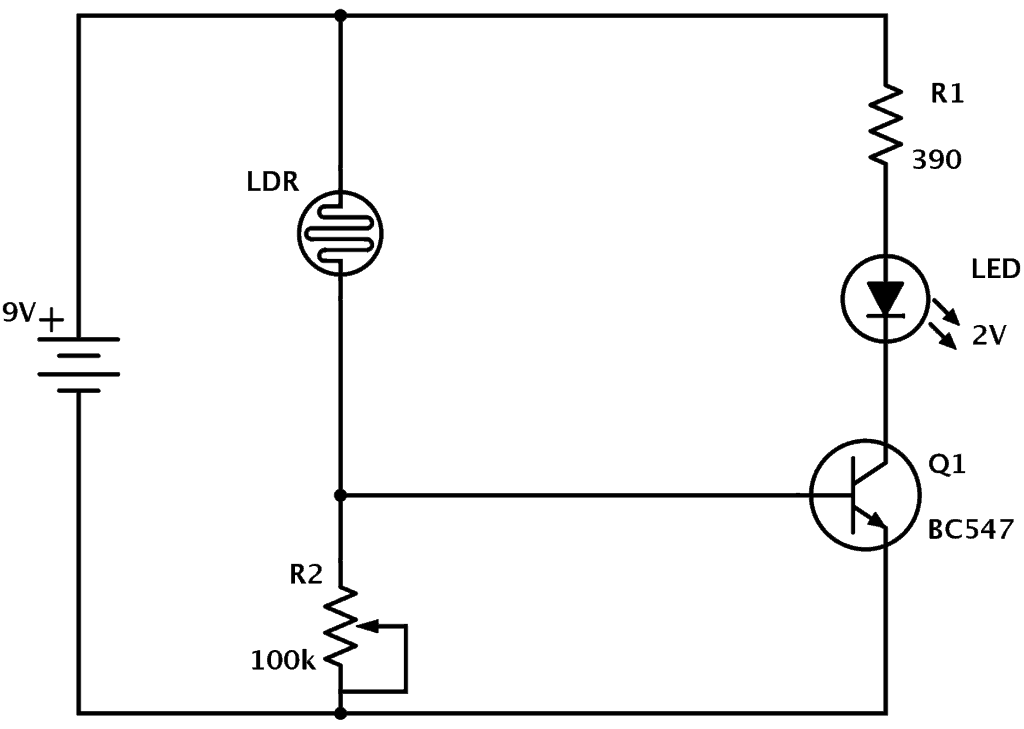 ldr light sensor circuit