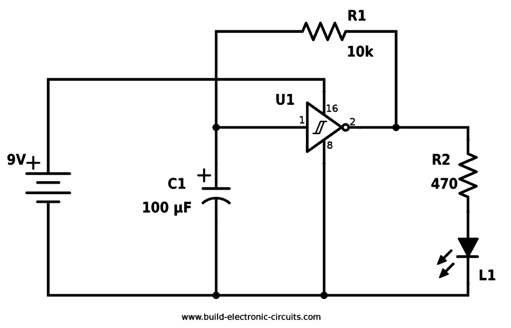simplest 220v led light circuit