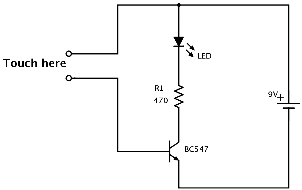 simple electronic circuit for students