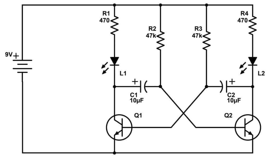astable circuit diagram