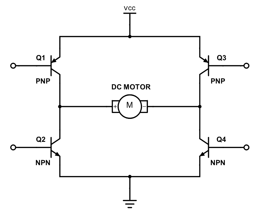 h bridge circuit diagram using transistor