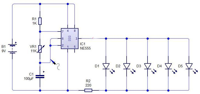 555 Timer Led Flasher Circuit Together With 555 Timer Circuit