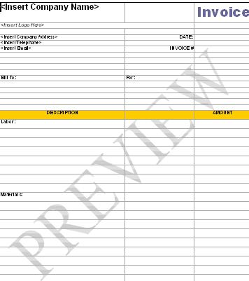 Handyman Business Forms Templates - handyman invoice template