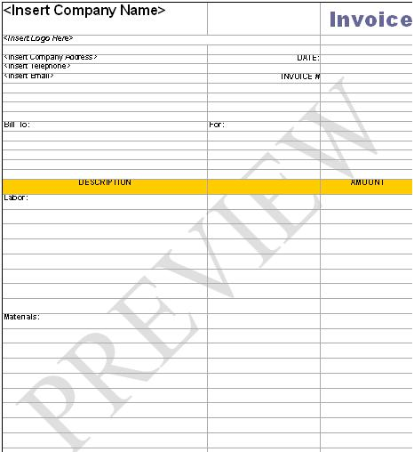 Handyman Business Forms Templates - business forms templates