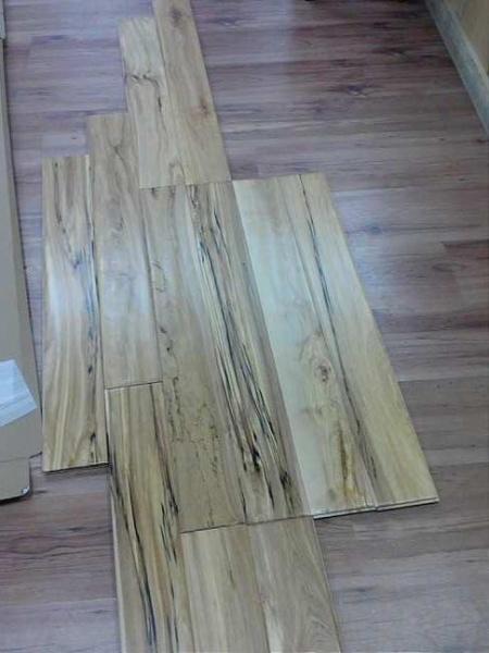 Hardwood flooring natural birch prefinished handscraped for Cheap hardwood flooring for sale