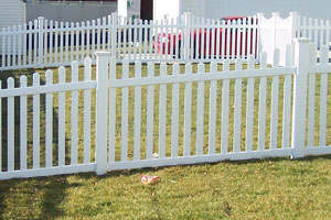 contemporary picket fence with scallop top white vinyl longevity