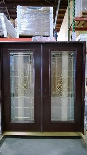 9 Exterior Double Door Decorative Glass Discount Sale 74in