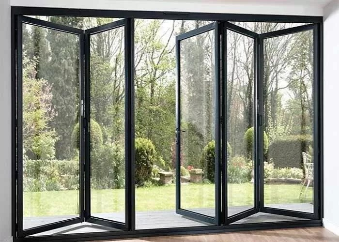 Modern Aluminium Frame Accordion Sliding Glass Doors With