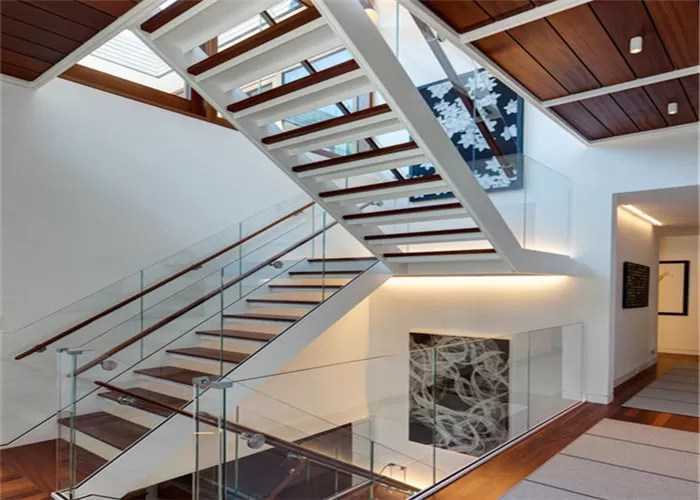 Modern Residential Straight Flight Staircase U Shaped