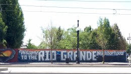 The Rio Grande mural near the 200 South and 500 West intersection.  Photo by Isaac Riddle.