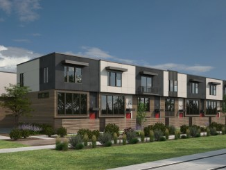 Rendering of the S-Line Townhomes in South Salt Lake as designed by  Tuttle and Associates.  The Crandall Avenue townhomes will have a similar look to the S-Line project. Image courtesy JF Capital.