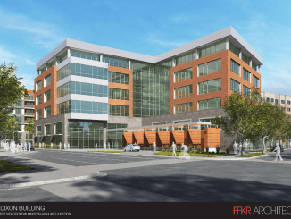 Rendering of the southeast corner of the Dixon Building.  Image courtesy Salt Lake City.