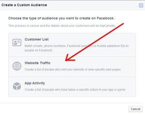 Facebook Retargeting - Website Traffic