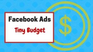 Facebook Ads tiny budet